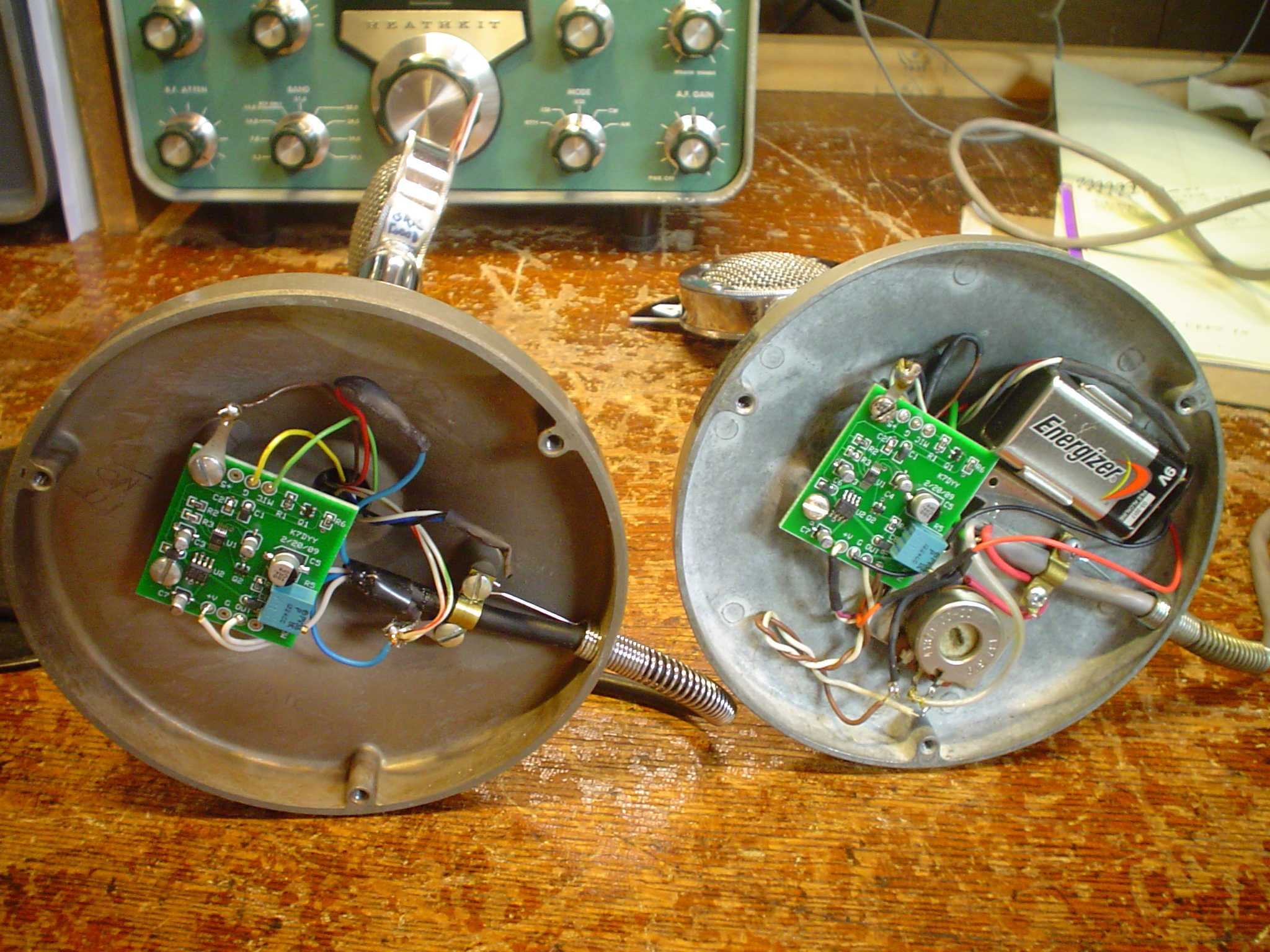 K7dyy D 104 Microphone Processor Board 4 Pin Astatic Wiring Diagram The One On Left Is An Older Stand Without Amplifier For My